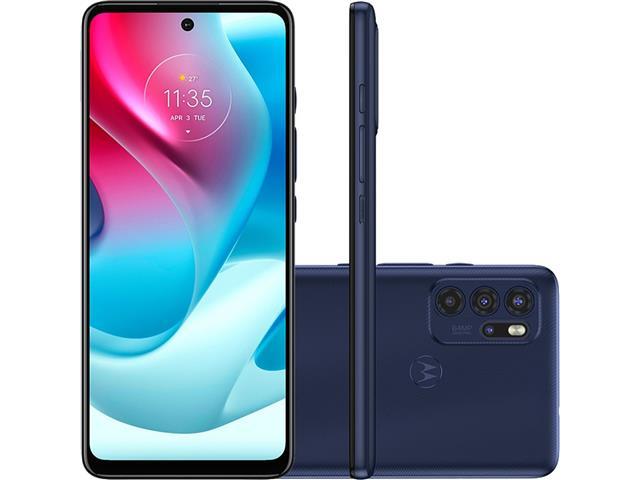 "Smartphone Motorola Moto G60S 4G 128GB 6.8"" Quad-Câm 64+8+5+2MP Azul"