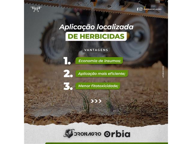 Aplicação localizada de herbicidas - Dronagro