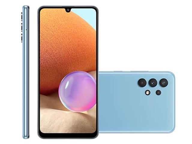 """Smartphone Samsung Galaxy A32 4G 128GB 6.4"""" 64+8+5+2MP Azul +Caixa Som"""