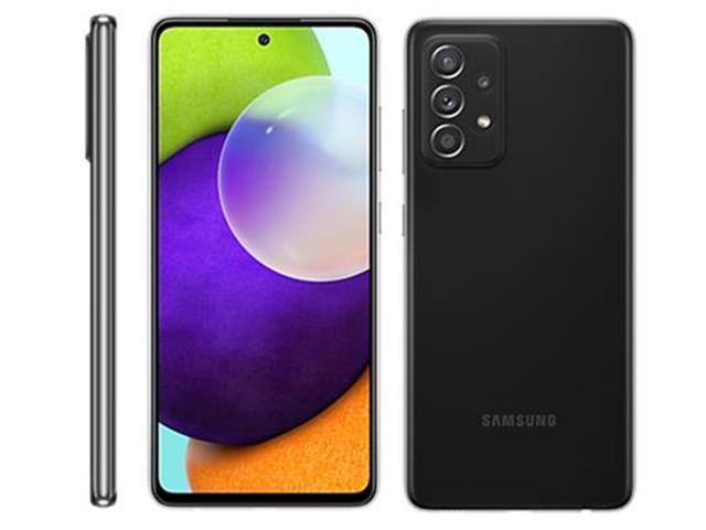 "Smartphone Samsung Galaxy A52 4G 128GB 6.5"" 64+12+5+5MP Pto +Caixa Som"