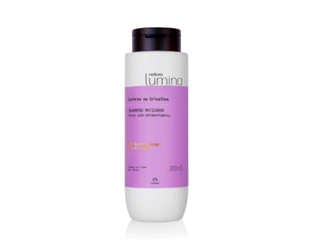 Shampoo Matizador Cabelos Loiros e Grisalhos Natura Lumina 300ML