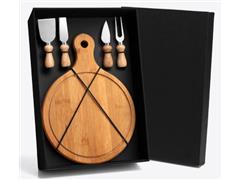 Kit para Queijo em Bambu 5 Peças