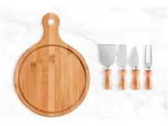 Kit para Queijo em Bambu 5 Peças - 1