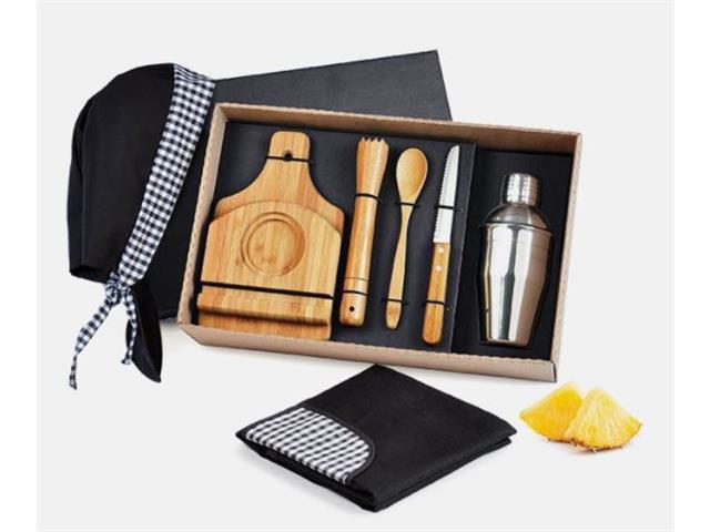 Kit para Caipirinha em Bambu com Avental e Bandana