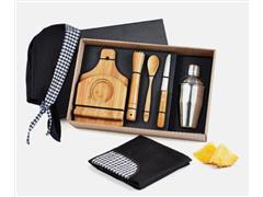 Kit para Caipirinha em Bambu com Avental e Bandana - 0