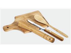 Kit para Caipirinha em Bambu com Avental e Bandana - 1