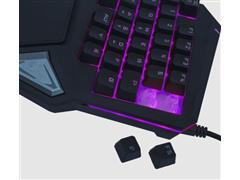 Teclado Gamer Warrior TC238 One Hand Drugi Semi Mecânico com LED - 4