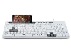 Teclado Gamer GK120 TC264 com Suporte para Smartphone Branco