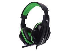 Headset Gamer Multilaser PH123 P2 Preto/Verde