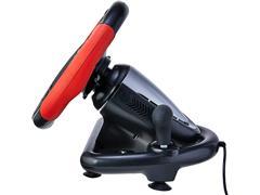 Volante Gamer Multilaser JS087 Multiplataforma Preto e Vermelho - 2