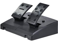 Volante Gamer Multilaser JS087 Multiplataforma Preto e Vermelho - 4