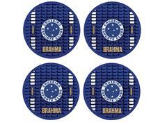 Conjunto de Porta Copos Brahma Cruzeiro 4 Bolachas