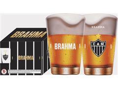 Conjunto de 4 Copos Caldereta para Cerveja Brahma Atlético 350ML