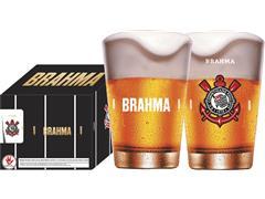 Conjunto de 4 Copos Caldereta para Cerveja Brahma Corinthians 350ML