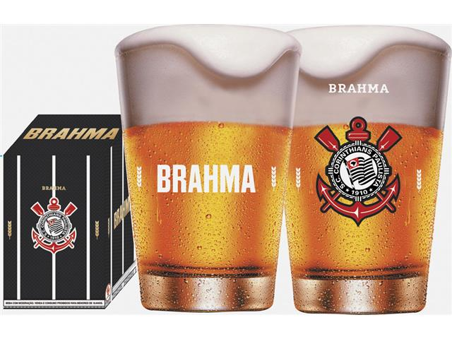 Copo Caldereta para Cerveja Brahma Corinthians 350ML