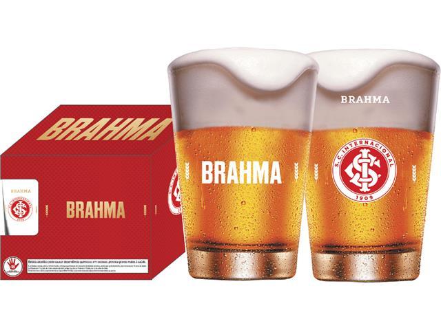 Conjunto de 4 Copos Caldereta para Cerveja Brahma Internacional 350ML