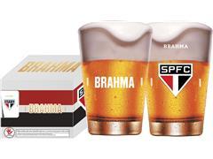 Conjunto de 4 Copos Caldereta para Cerveja Brahma São Paulo 350ML