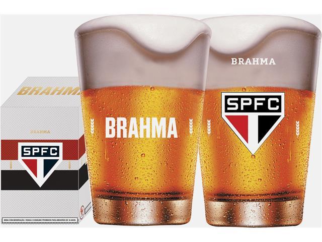 Copo Caldereta para Cerveja Brahma São Paulo 350ML