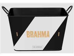 Balde para Gelo em Alumínio Retangular 8 Litros Brahma Vasco - 1