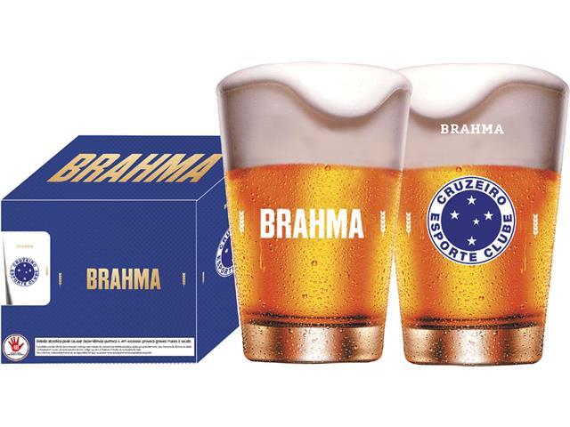 Conjunto de 4 Copos Caldereta para Cerveja Brahma Cruzeiro 350ML