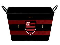 Balde para Gelo em Alumínio Retangular 8 Litros Brahma Flamengo - 0