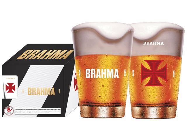 Conjunto de 4 Copos Caldereta para Cerveja Brahma Vasco 350ML
