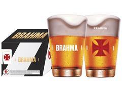Conjunto de 4 Copos Caldereta para Cerveja Brahma Vasco 350ML - 0