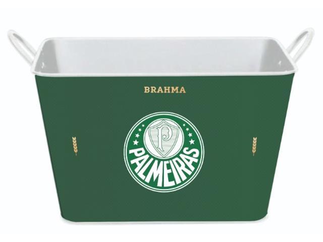 Balde para Gelo em Alumínio Retangular 8 Litros Brahma Palmeiras