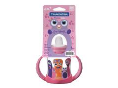 Copo infantil Tramontina Monster Baby Rosa - 1