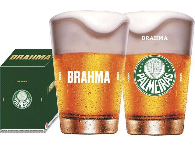 Copo Caldereta para Cerveja Brahma Palmeiras 350ML