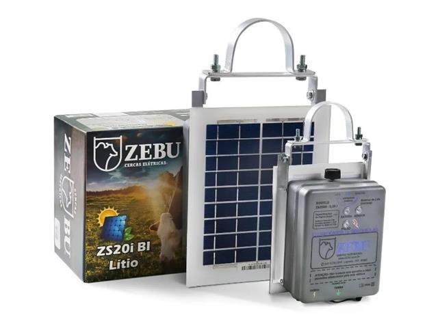 Eletrificador de Cerca Solar Zebu ZS20I BI com Bateria