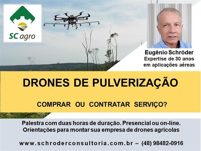 DRONES DE PULVERIZAÇÃO - Palestra Sobre Comprar ou Contratar Serviço
