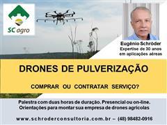 DRONES DE PULVERIZAÇÃO - Palestra Sobre Comprar ou Contratar Serviço - 0