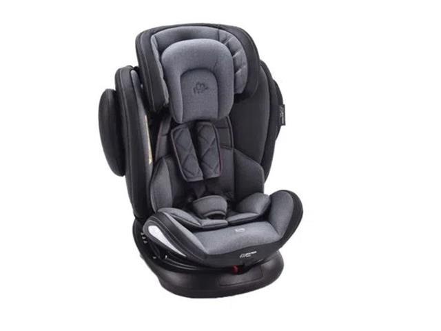 Cadeirinha para Auto Multikids Baby BB625 Softfix 360 Cinza