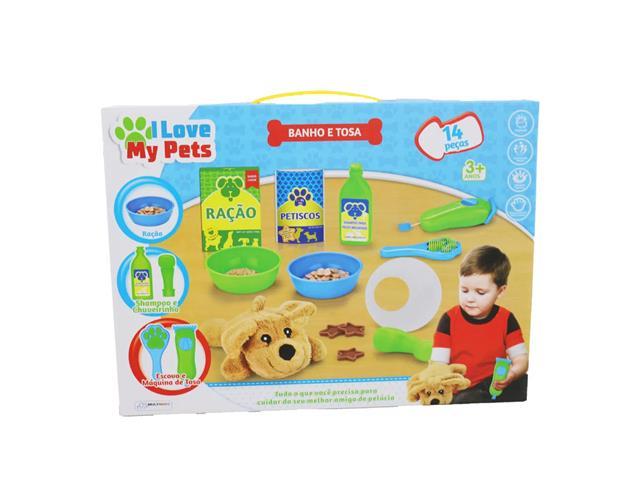 Brinquedo Multikids BR1217 I Love My Pets Banho e Tosa