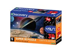 Quebra Cabeça Super 3D Multikids BR1057 Modelo Planetas com 100 Peças