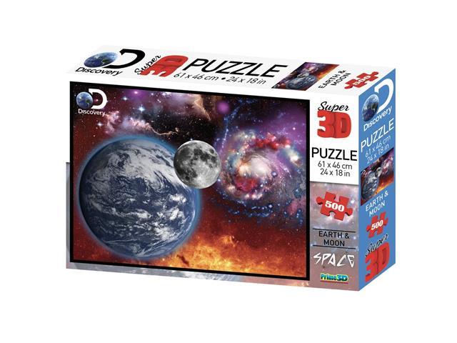 Quebra Cabeça Super 3D Multikids BR1062 Universo com 500 Peças