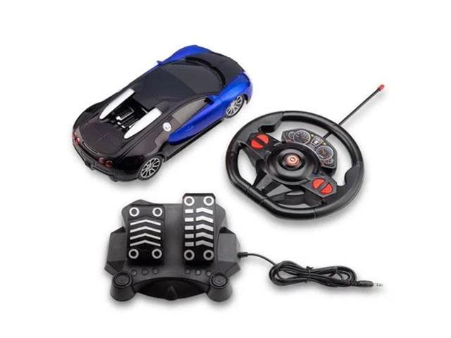Carrinho com Volante e Pedal Multikids Racing Control Nitro Azul
