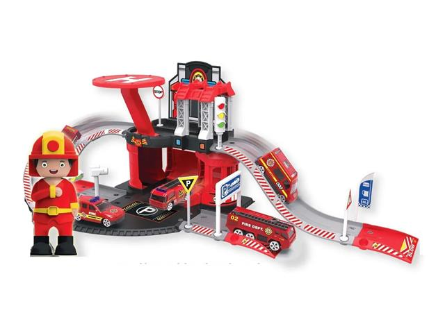 Brinquedo Garagem Bombeiro Multikids BR1238 Express Wheels 42 Pecas