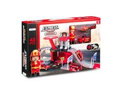 Brinquedo Garagem Bombeiro Multikids BR1238 Express Wheels 42 Pecas - 1