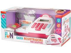 Brinquedo Caixa Registradora Multikids Creative Fun Mini Shopping Rosa