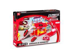 Brinquedo Garagem Bombeiro Multikids BR1235 Express Wheels 40 Pecas - 1