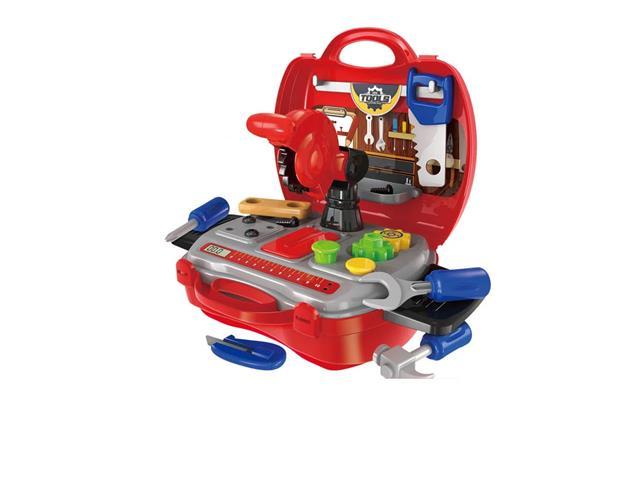 Maleta Multikids BR773 Workshop Jr Construtor com 16 Itens Vermelho