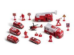 Brinquedo Multikids BR970 Play Machine Play Set Bombeiro Mini Resgate - 1