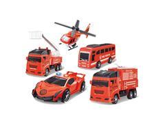 Brinquedo Multikids BR1283 Play Machine Play Set Bombeiros Veiculos