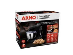 Batedeira Planetária Arno Super Chef Inox Preta 750W