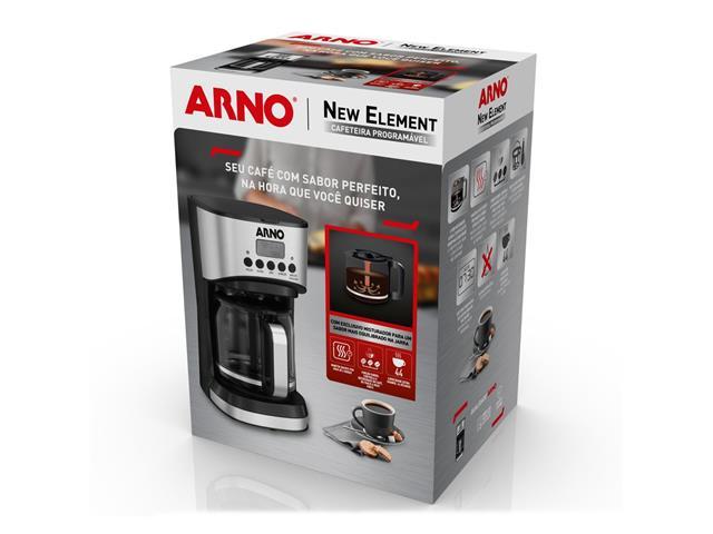 Cafeteira Elétrica Arno New Element Black 1000W