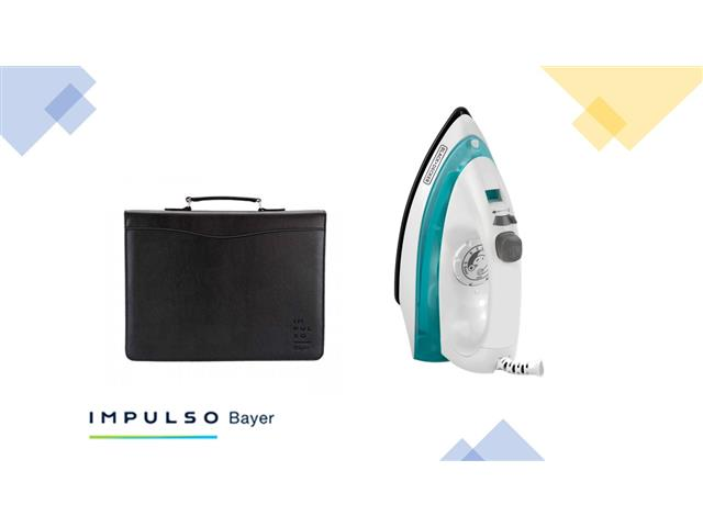 Carpeta portafolio Impulso Bayer + Plancha De Vapor QUICK 'N EASY