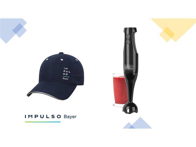 MX0148  - Gorra Impulso Bayer Azul + MX0107 - BATIDORA DE INMERSIÓN