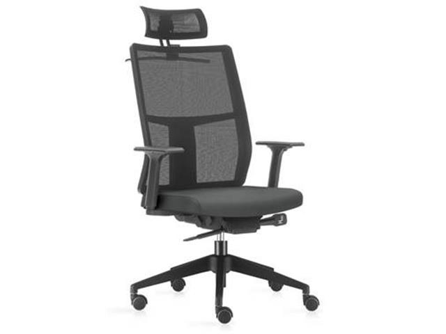 Cadeira Time Presidente Assento Cinza Base Preta Rodízio Piso Duro